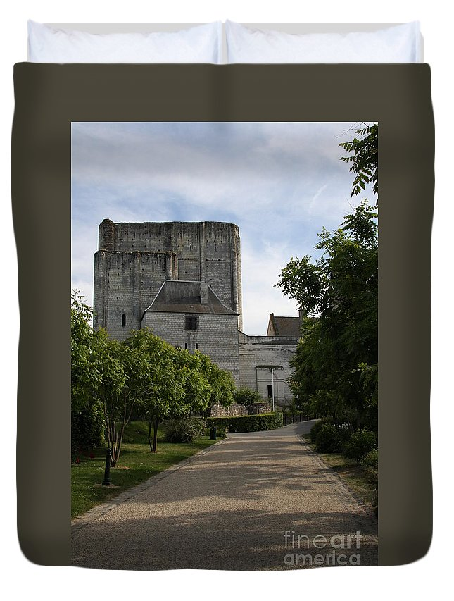 Donjon Duvet Cover featuring the photograph Donjon Loches - France by Christiane Schulze Art And Photography