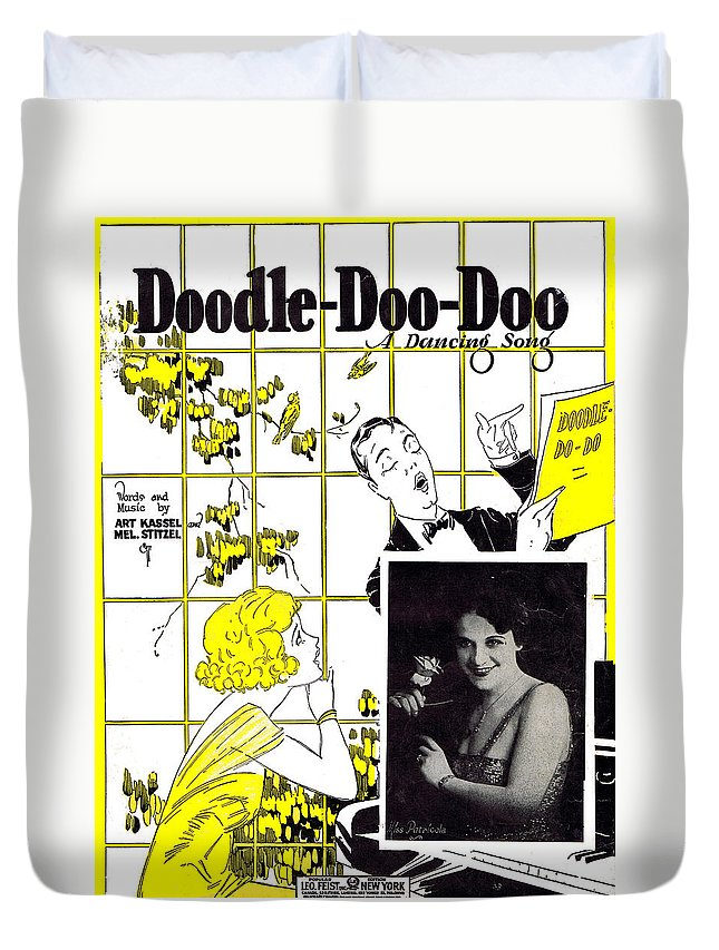 Nostalgia Duvet Cover featuring the photograph Doodle Doo Doo by Mel Thompson