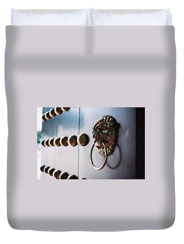 Taiwan Duvet Cover featuring the photograph Door Ring by Photography By Bert.design
