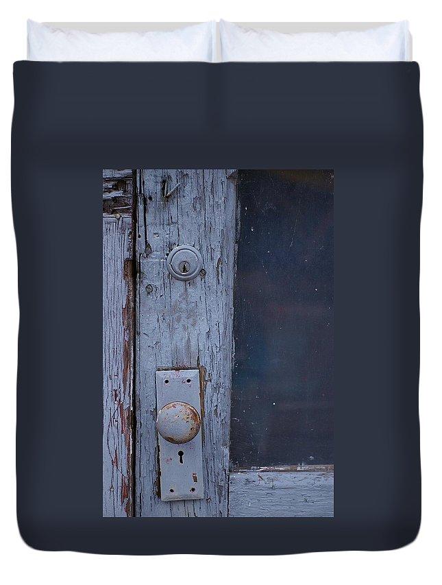 Door Duvet Cover featuring the photograph Door To The Past by Randy Pollard