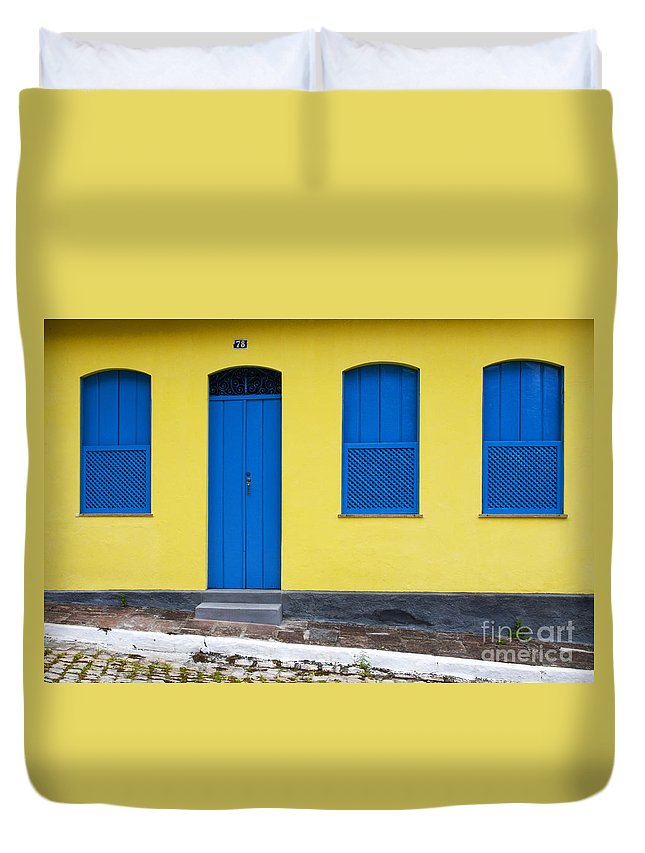 Door Duvet Cover featuring the photograph Doors And Windows Lencois Brazil 8 by Bob Christopher