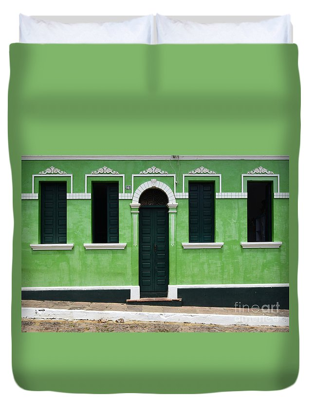 Door Duvet Cover featuring the photograph Doors And Wndows Lencois Brazil 7 by Bob Christopher