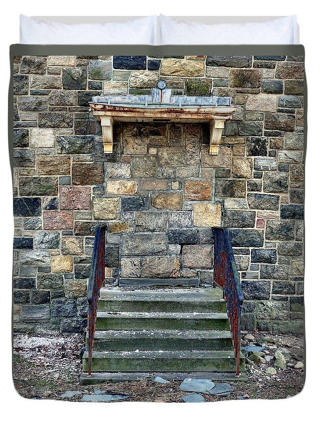 Haunt Duvet Cover featuring the photograph Doors Open by Art Dingo