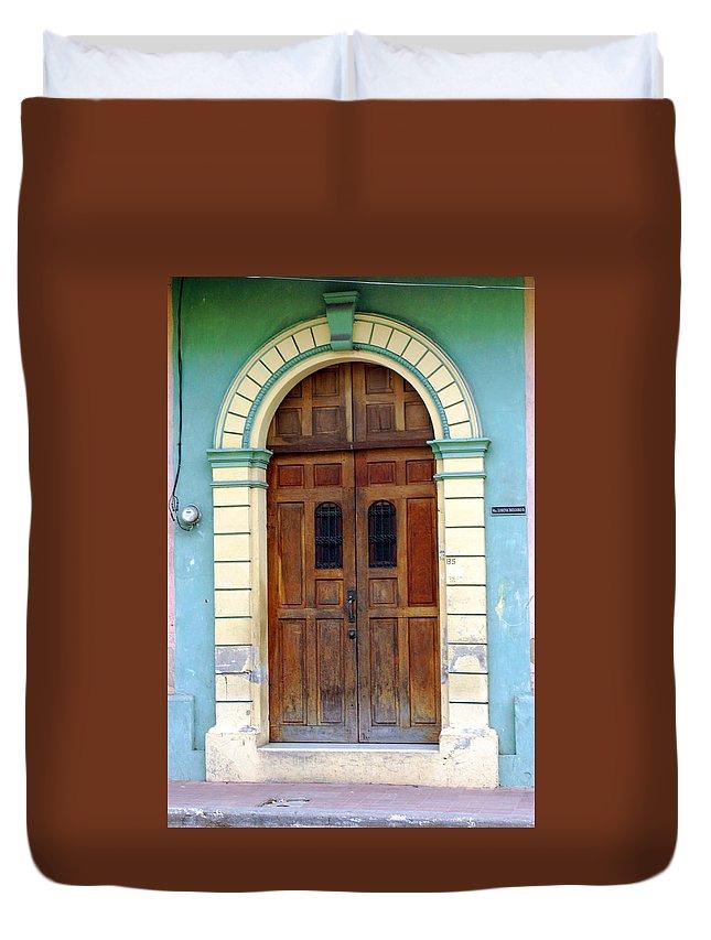 Doorway Duvet Cover featuring the photograph Doorway Of Nicaragua 001 by David Beebe