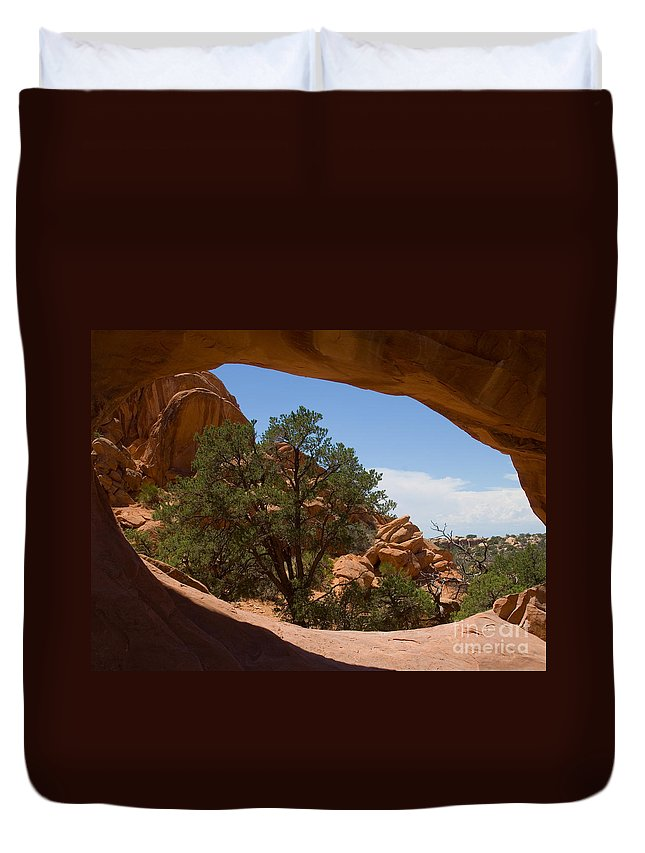 Double O Arch Duvet Cover featuring the photograph Double O Arch by Lee Roth