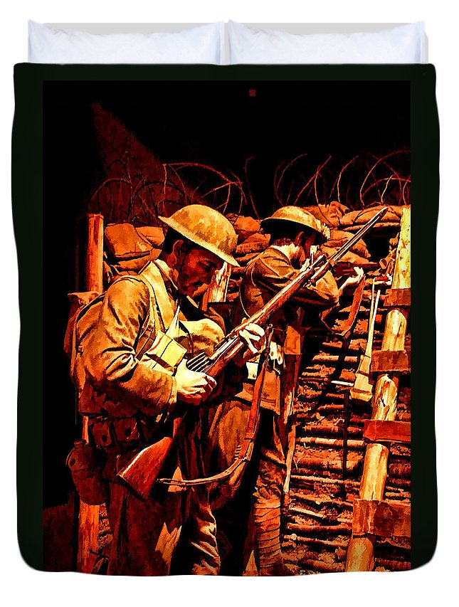 Us Army Duvet Cover featuring the photograph Doughboys by Tommy Anderson