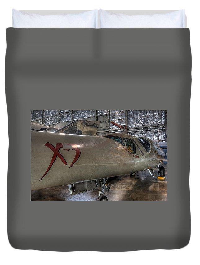 Muroc Lake Duvet Cover featuring the photograph Douglas X-3 Stiletto by David Dufresne