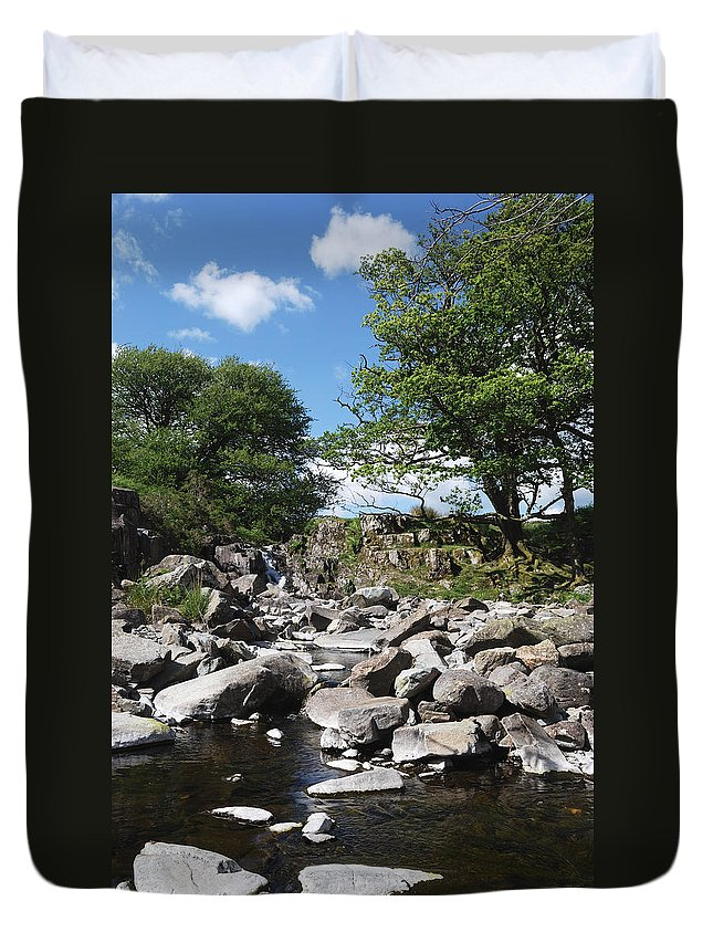 Llyn Cwm Bychan Duvet Cover featuring the photograph Down From The Mountains by Wendy Wilton