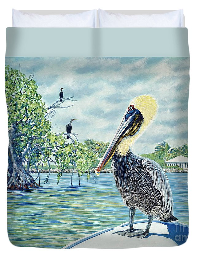 Key Largo Duvet Cover featuring the painting Down in the Keys by Danielle Perry