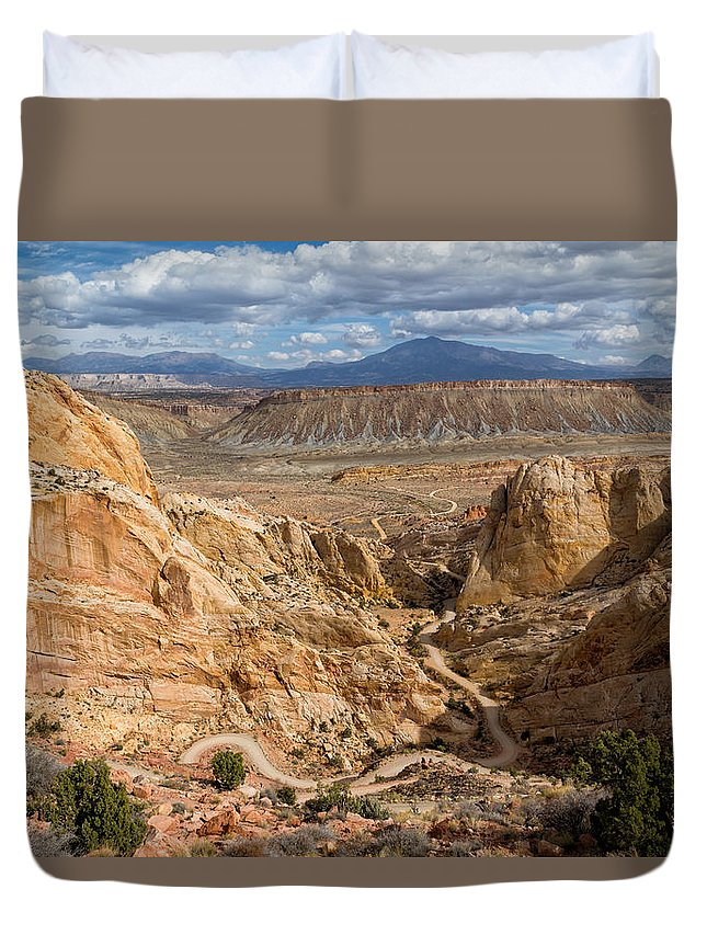 Capitol Reef Duvet Cover featuring the photograph Down The Burr Trail by Kathleen Bishop