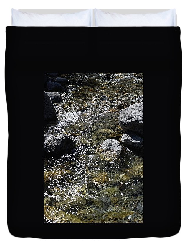 Down The River Duvet Cover featuring the photograph Down The River by Gina Dsgn