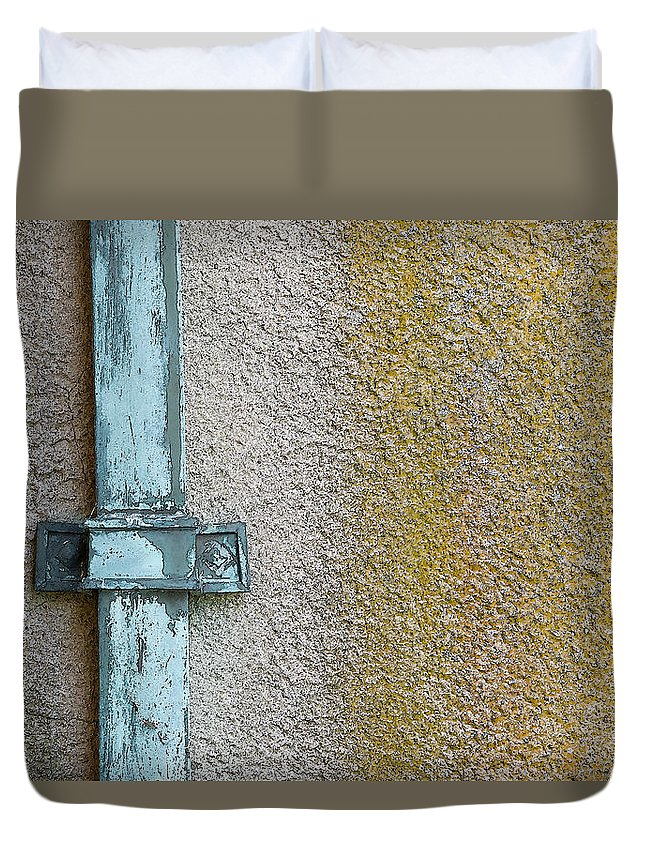 Crane Estate Duvet Cover featuring the photograph Downspout by David Stone