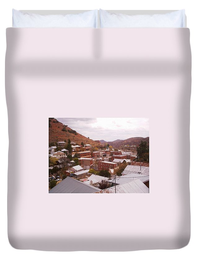Bisbee Duvet Cover featuring the photograph Downtown Bisbee by David S Reynolds
