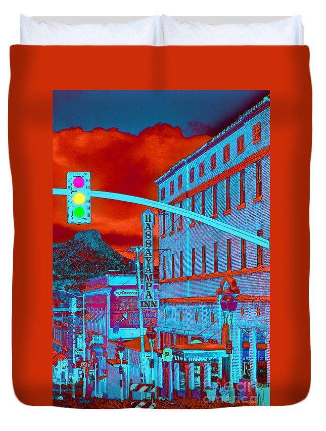 Kris Graves Photography Duvet Cover featuring the photograph Downtown Prescott Arizona by K D Graves