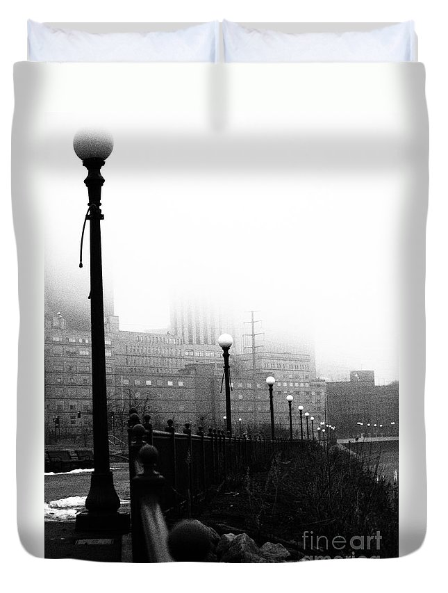 Downtown Duvet Cover featuring the photograph Downtown St.paul Minnesota by Amanda Hilden