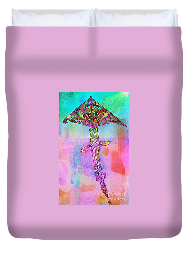 Dragon Duvet Cover featuring the photograph Dragon Kite by Lilliana Mendez