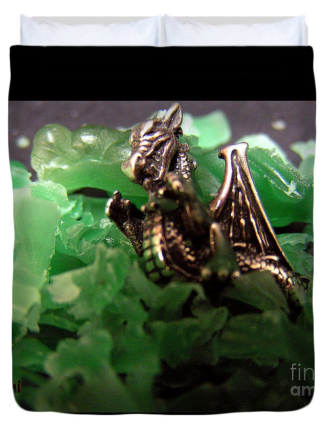 Dragon Duvet Cover featuring the photograph Dragon's Hoard by Kami Catherman