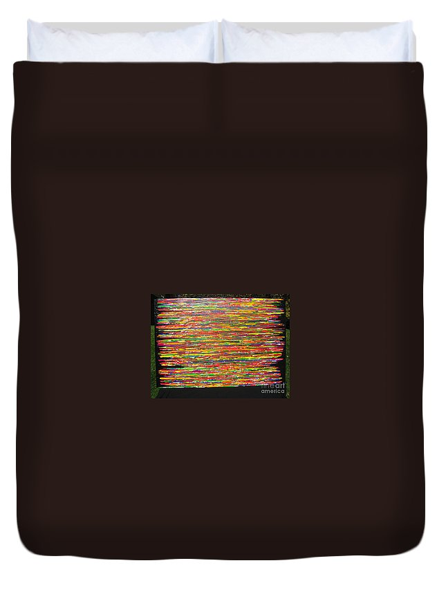 Drama Duvet Cover featuring the painting Drama by Jacqueline Athmann
