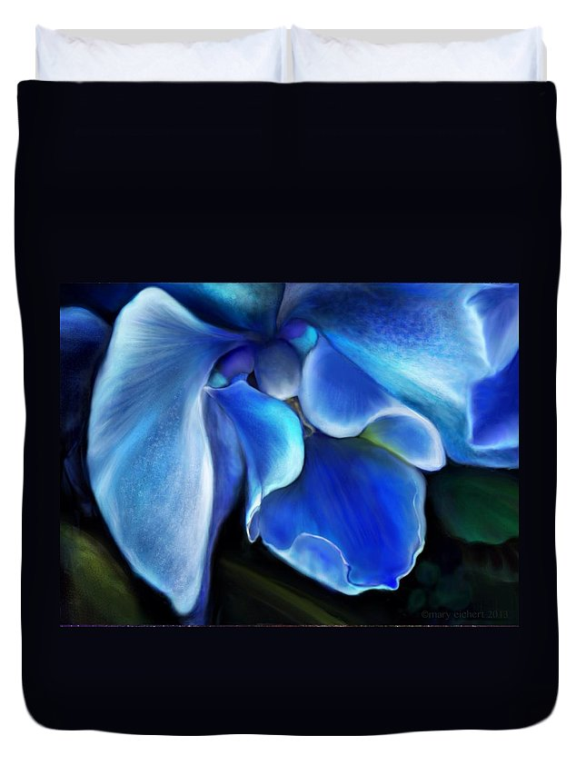 Floral Duvet Cover featuring the digital art Drama by Mary Eichert