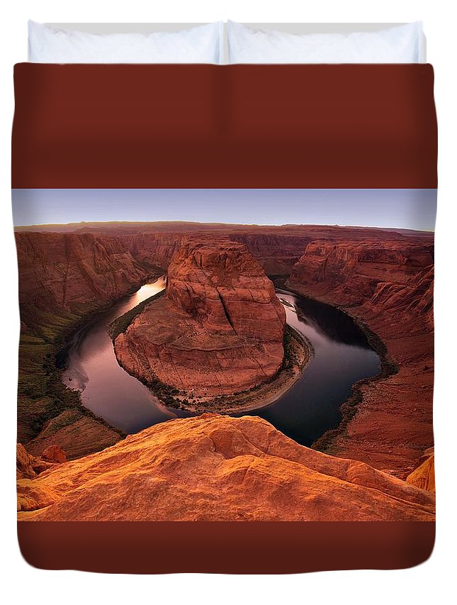 Arizona Duvet Cover featuring the photograph Dramatic River Bend by David Andersen