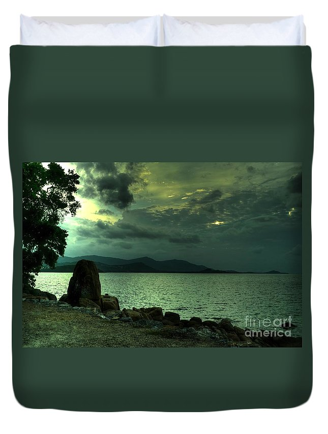 Michelle Meenawong Duvet Cover featuring the photograph Dramatic Sky by Michelle Meenawong