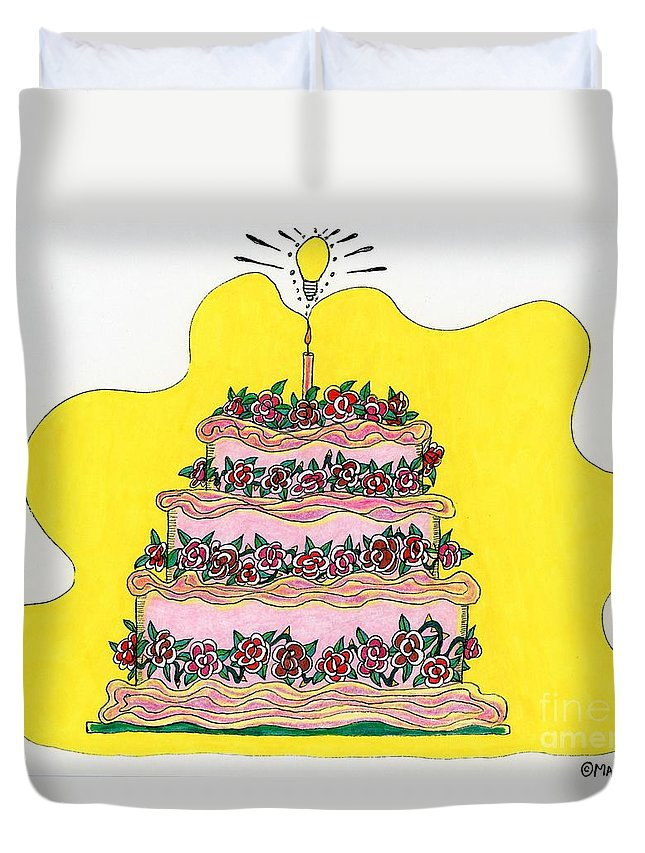 Cakes Duvet Cover featuring the painting Dream Cake by Maggie Pringle