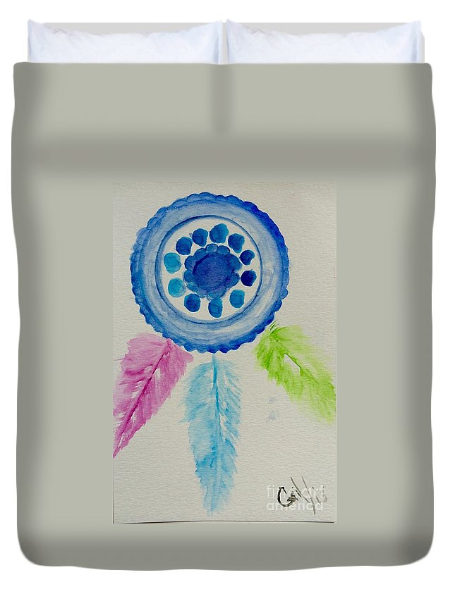 Dream Catcher Duvet Cover featuring the painting Dream Catcher by Gail Nandlal