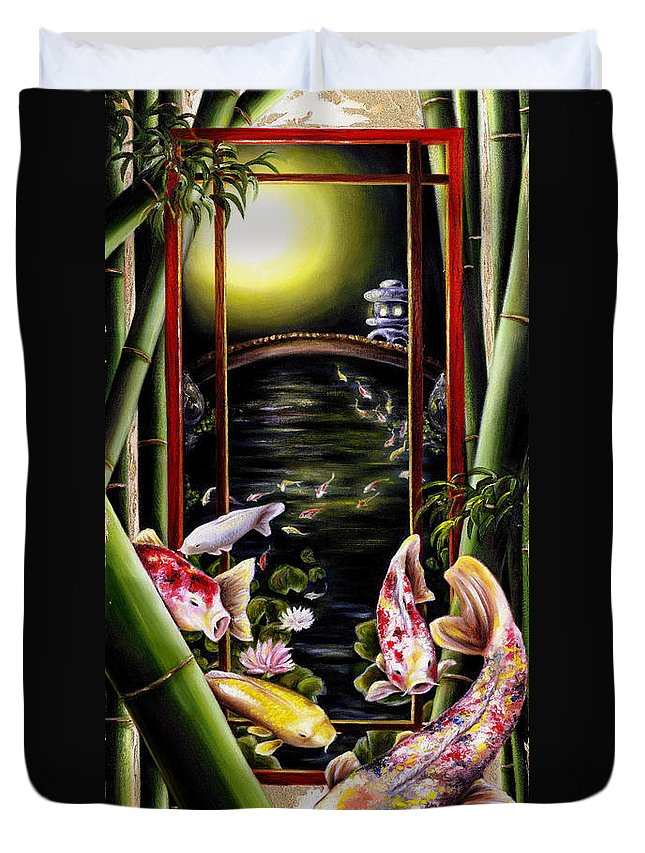 Japanese Duvet Cover featuring the painting Dream by Hiroko Sakai