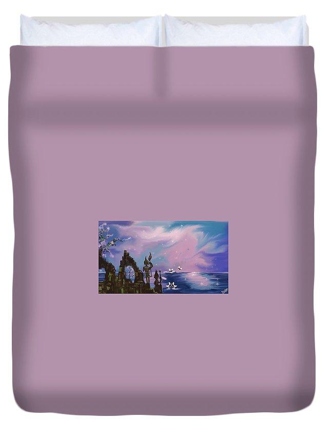 Dream Duvet Cover featuring the painting Dream by Artist Nandika Dutt