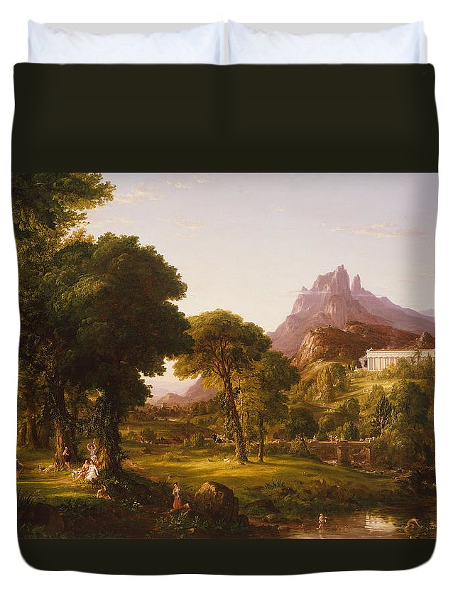 Thomas Cole Duvet Cover featuring the painting Dream Of Arcadia by Thomas Cole