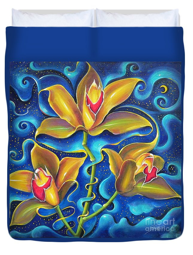 Acrylics Duvet Cover featuring the painting Dream Within A Dream by Artist ForYou
