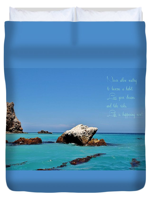 Water Duvet Cover featuring the photograph Dreams by Debra Farrey