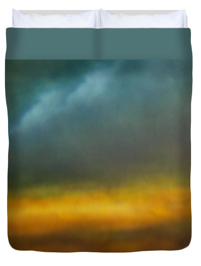 Abstract Duvet Cover featuring the painting Dreams Of The Lands You Showed Me by Georgiana Romanovna