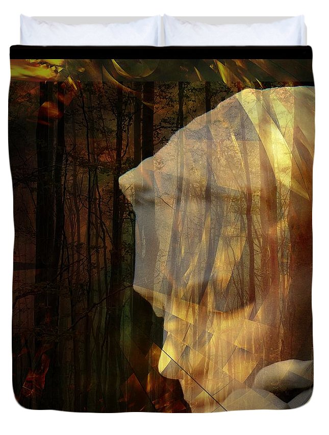 Of Lucid Dreams / Dreamscape 3 Duvet Cover featuring the digital art Of Lucid Dreams / Dreamscape 3 by Elizabeth McTaggart