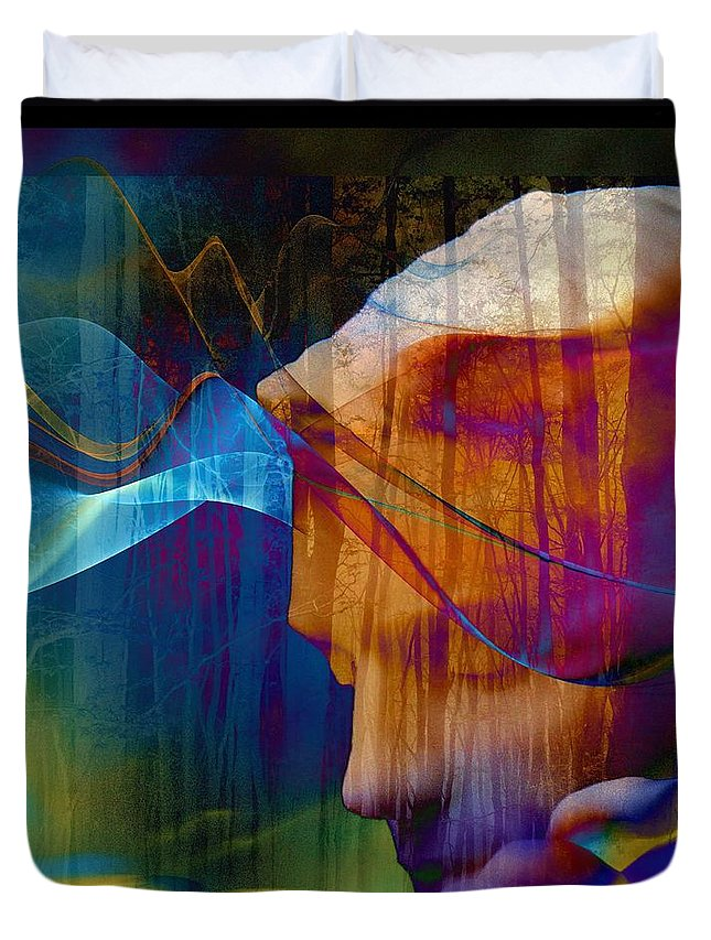 Of Lucid Dreams / Dreamer Duvet Cover featuring the digital art Of Lucid Dreams / Dreamscape by Elizabeth McTaggart
