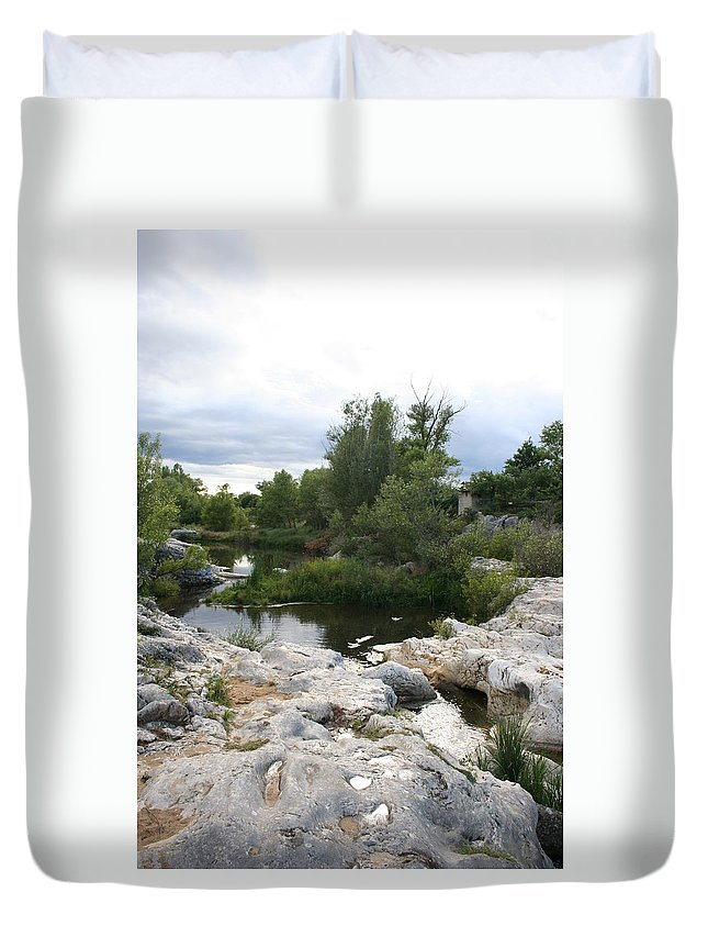 Stones Duvet Cover featuring the photograph Dreamy River by Christiane Schulze Art And Photography