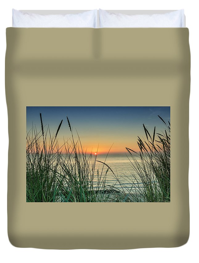 Sunset Duvet Cover featuring the photograph Dreamy Sunset by Mike Santis