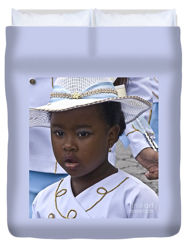 Heiko Duvet Cover featuring the photograph Dressed For The Parade by Heiko Koehrer-Wagner