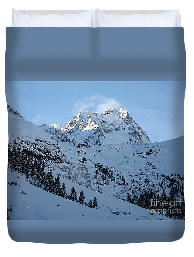 Snow Duvet Cover featuring the photograph Drifting Snow by Christiane Schulze Art And Photography