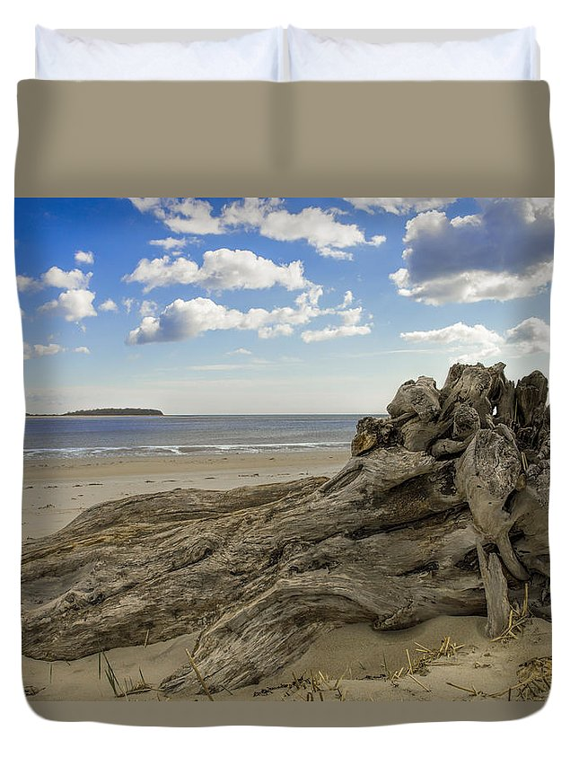 Crane Estate Duvet Cover featuring the photograph Driftwood  by David Stone