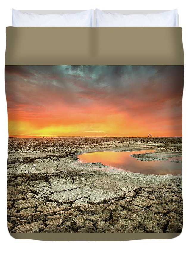 Tranquility Duvet Cover featuring the photograph Droughts Bane by Aaron Meyers