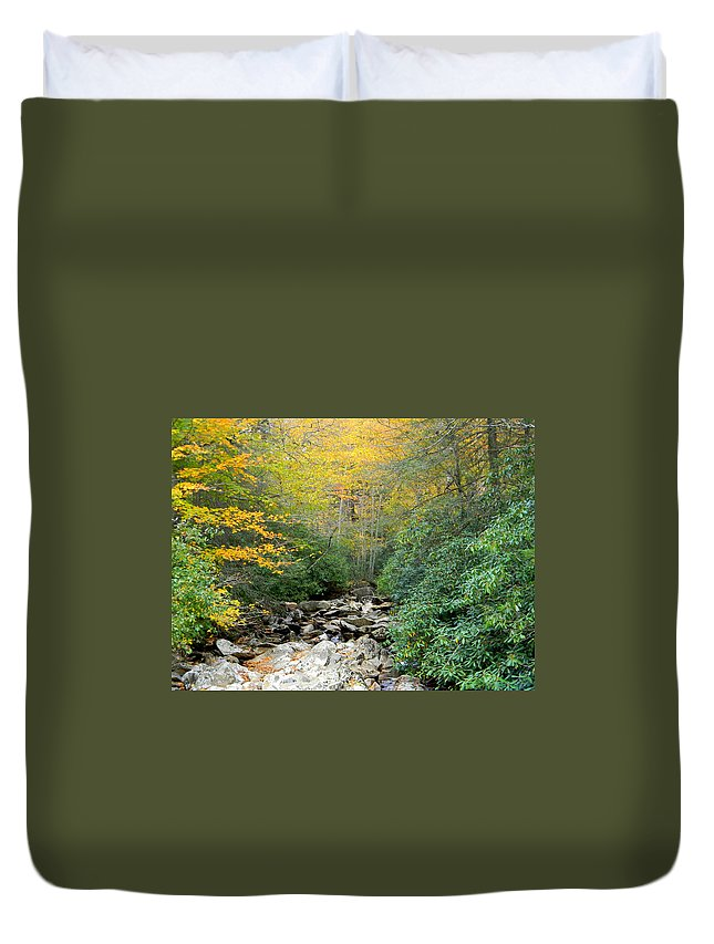 Dry Creek Bed Duvet Cover featuring the photograph Dry Creek Bed by Mary Koval