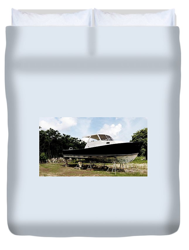 Color Duvet Cover featuring the photograph Dry Dock by Amar Sheow
