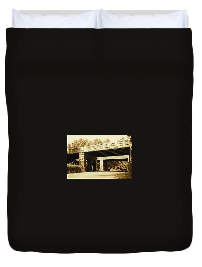 Bridge Duvet Cover featuring the photograph Dual Bridges by IMH Photog