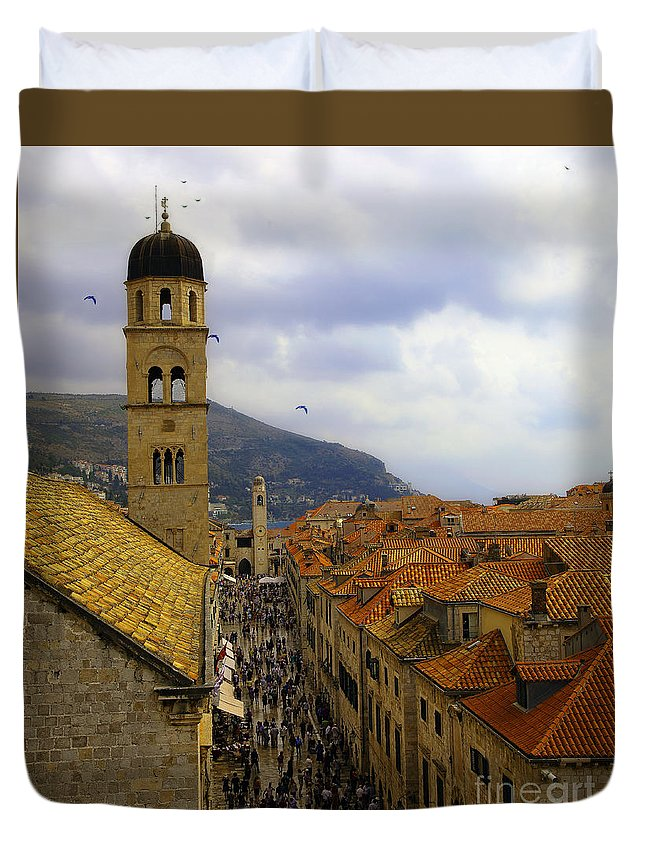 Dubrovnik Duvet Cover featuring the photograph Dubrovnik - Old City by Madeline Ellis