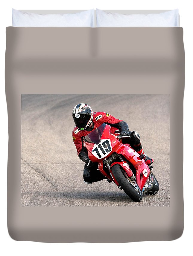 Ducati Duvet Cover featuring the photograph Ducati No. 719 by Jerry Fornarotto