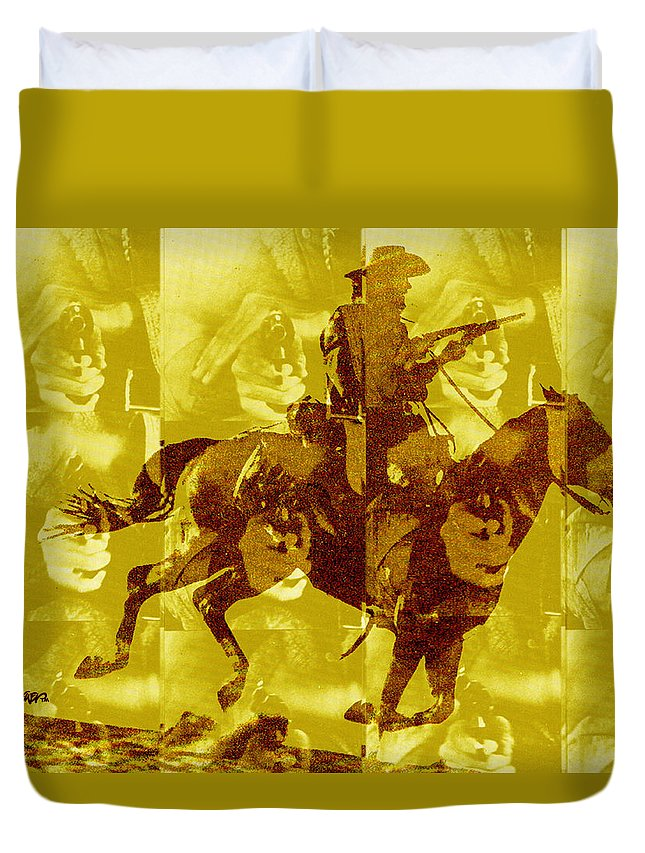 Clint Eastwood Duvet Cover featuring the digital art Duel In The Saddle 1 by Seth Weaver