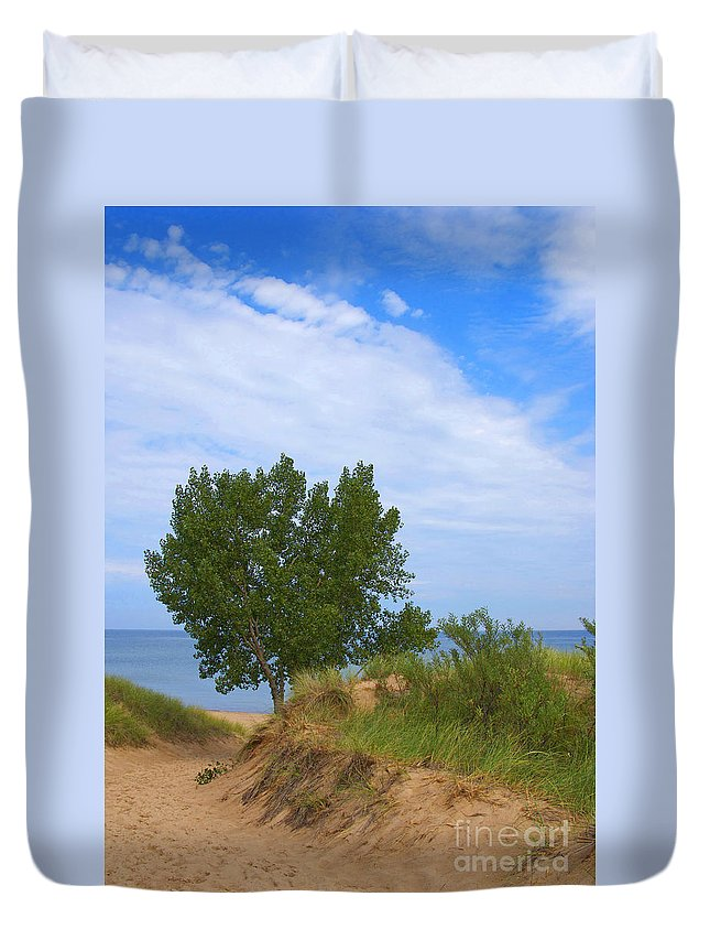Dune Duvet Cover featuring the photograph Dune - Indiana Lakeshore by Ann Horn