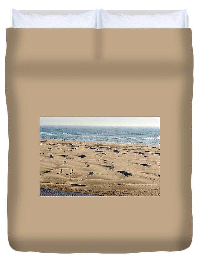 Home Duvet Cover featuring the photograph Dune Beach by Richard Gehlbach