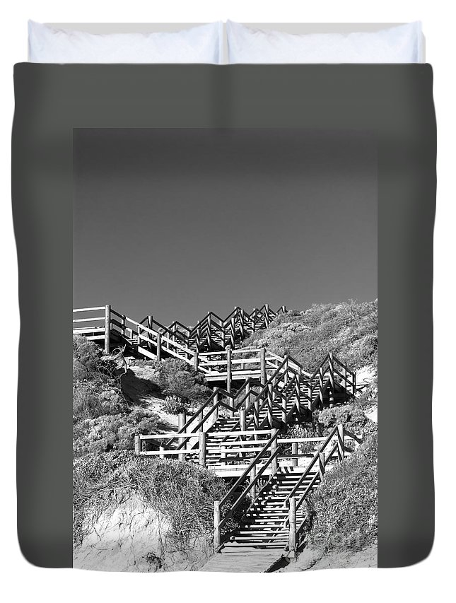 Australia Duvet Cover featuring the photograph Dune Steps 03 by Rick Piper Photography